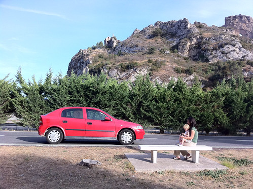 Car, girls, and a hermitage