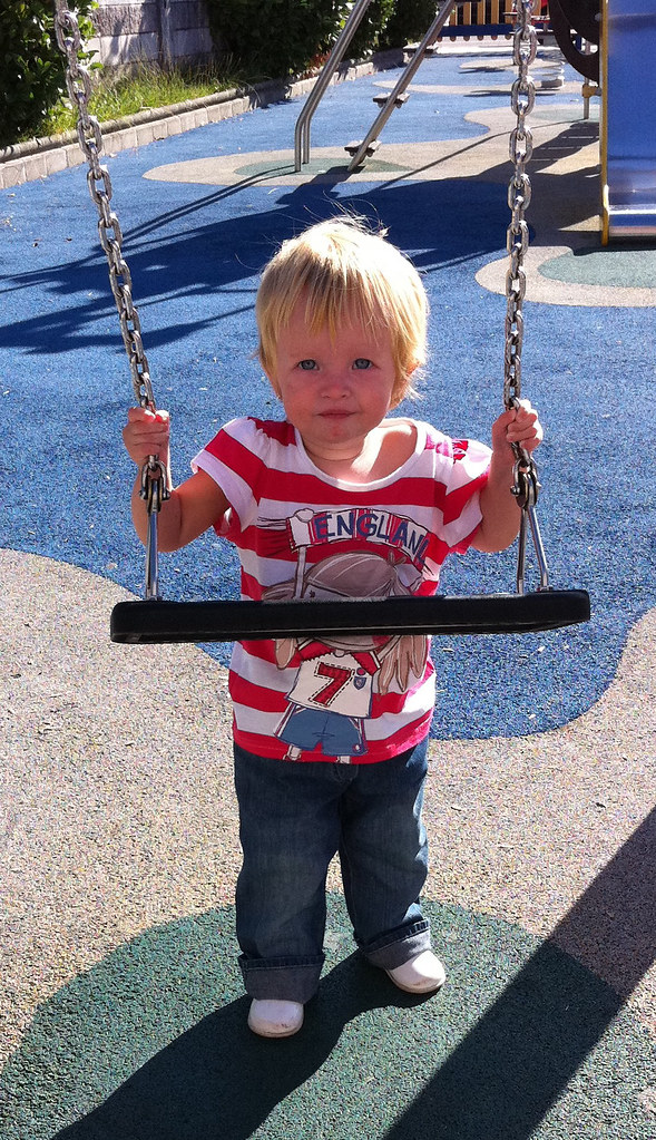 Denim Girl on the Playground