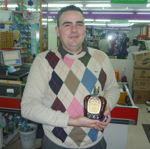 Andrés with his Crown Royal