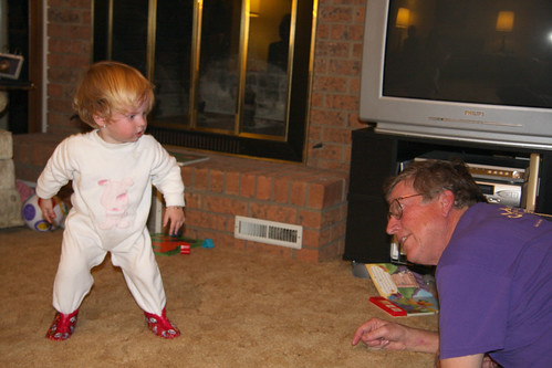 Wrestling with Grandpa