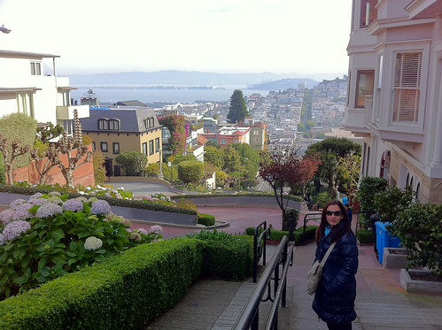 Walking down Lombard Street