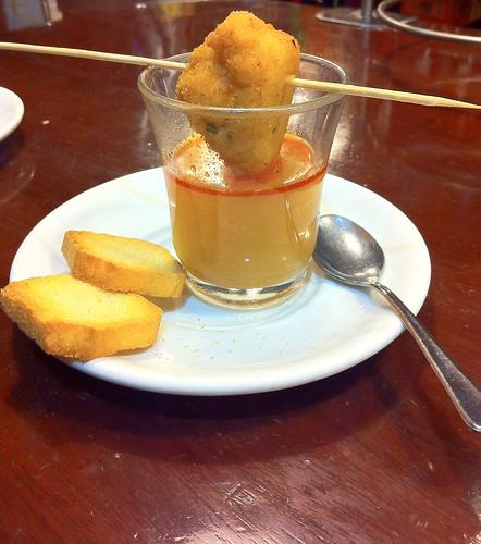 Cafetería Colón - Bocadito de marisco y golpe de mar