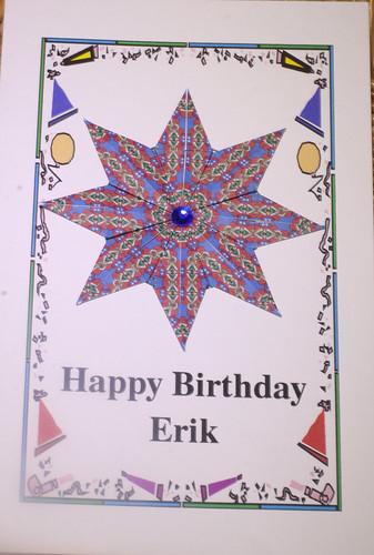Erik's 31st Birthday Card