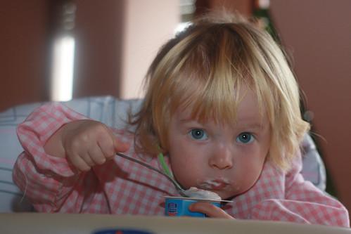 Surprised Yogurt Eater