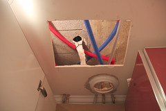 Hole in kitchen ceiling
