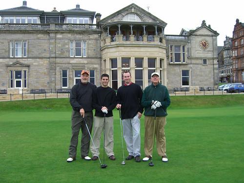 Four Golfers On Hallowed Ground