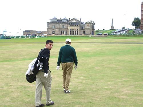 Jacob appreciates one of the best walks in golf