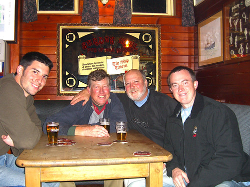 Four friends at Ship Tavern - Anstruther, Scotland