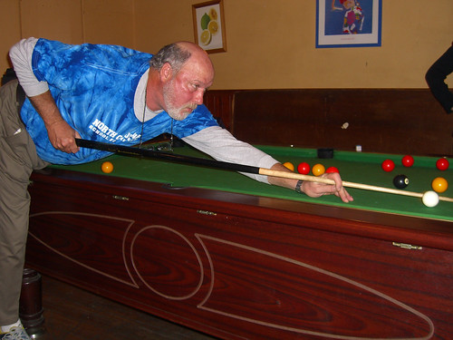 Jeff playing pool