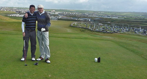 Erik and Jacob at Ballybunion