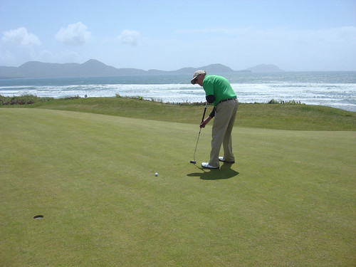 Paul putting at Waterville