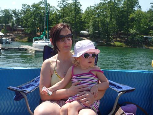 Marga and Nora on Lake James