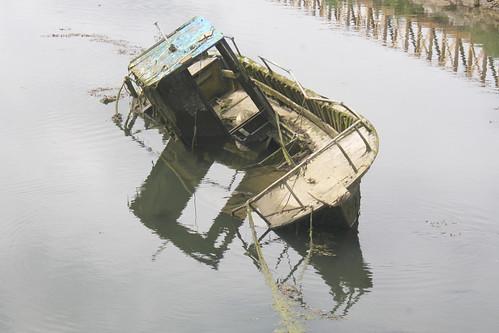 Sunken Rotting Boat
