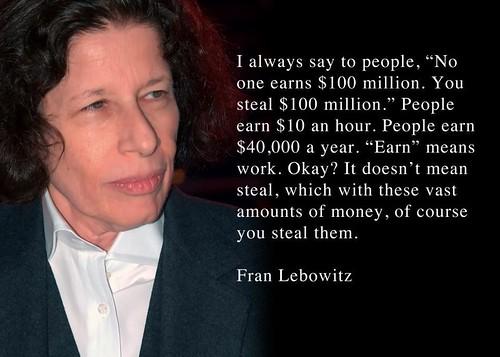 Lebowitz being stupid