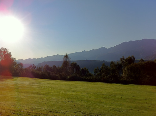 Gorgeous day for golf in Llanes