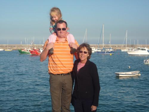 Nora, Erik and Betsy in Castro Urdiales