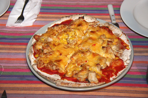 Turkey Pizza for Thanksgiving 2011