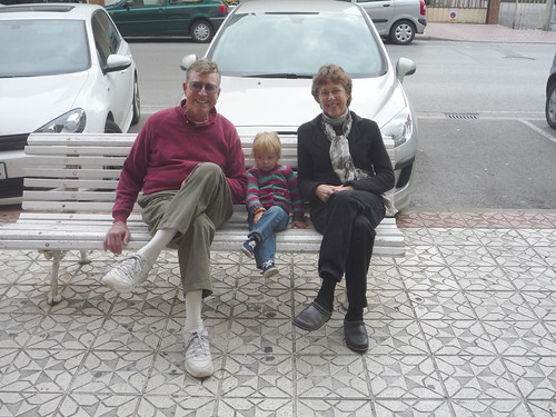 Sitting with grandparents