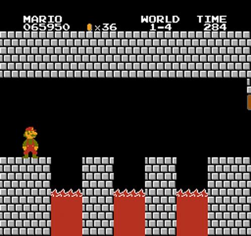 Super Mario Bros - Three Lava Pits