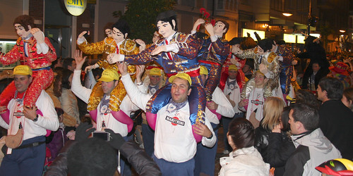 Bullfighters on Shoulders, Carnival Costume, Santoña
