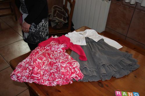Nora's new dresses
