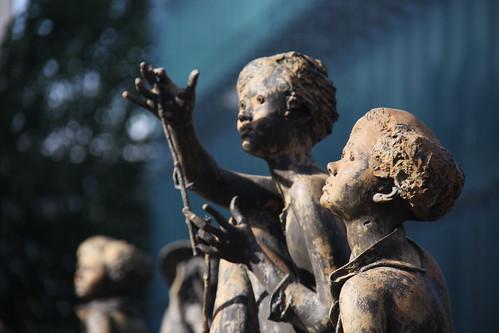 Creepy European Commission Statues