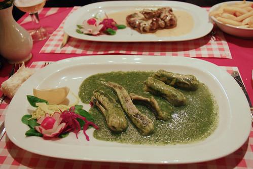 Eels in Green Sauce