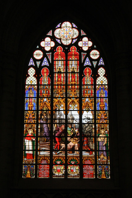 Brussels Cathedral Stained Glass