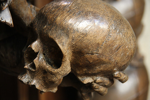 Brussels Cathedral Wooden Skull