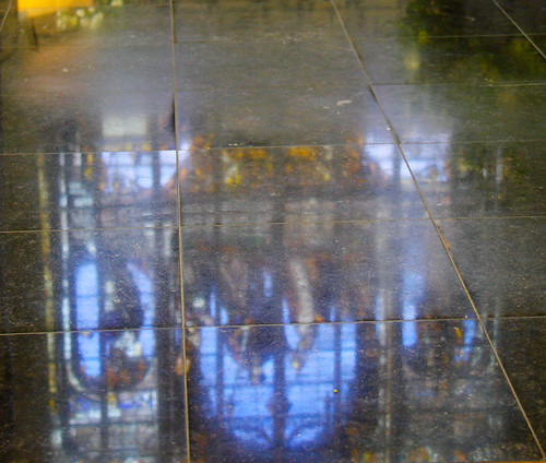 Brussels Cathedral Floor Reflection