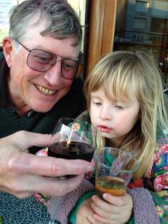 Nora with Grandpa