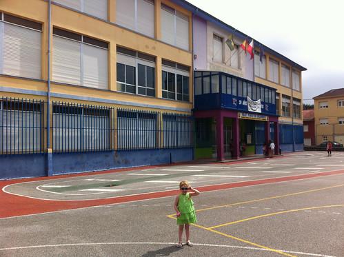 In Front of her School