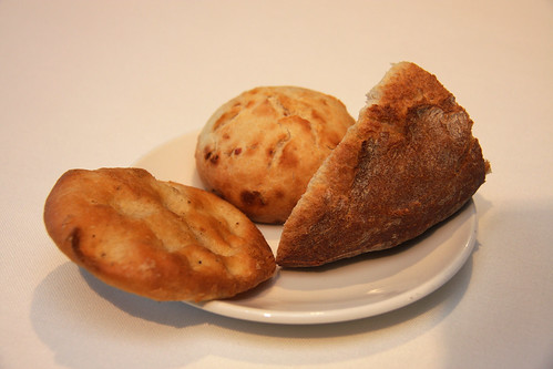 Rustic, onion, olive oil breads