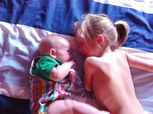 Adoring Siblings