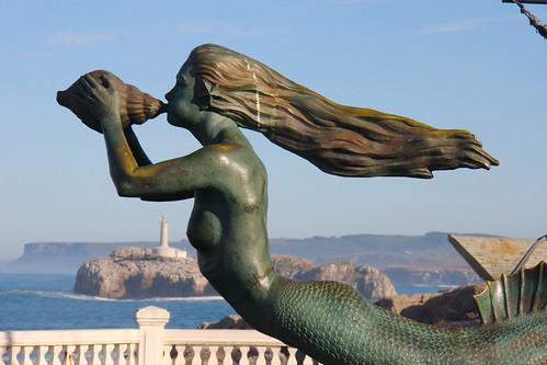 Mermaid Statue in Santander