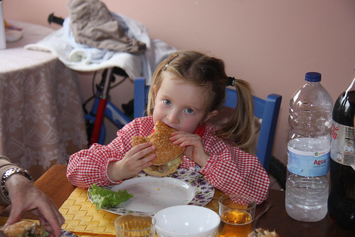 Nora's first burger