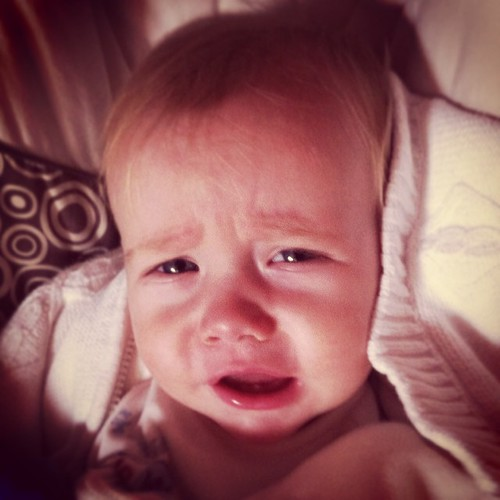 Ten months old and Ian's phlegming. I got the sick baby boy blues.