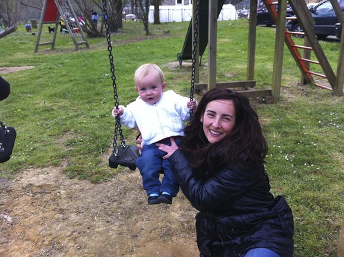 Swinging with Mommy