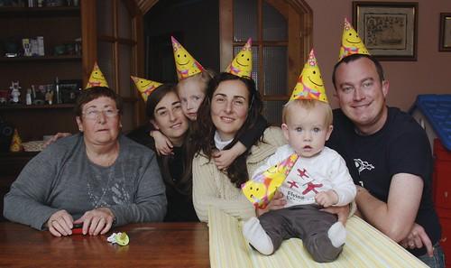 Ian's Eleven-Month Birthday Hamburger Party