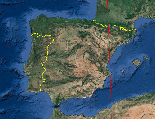 Spain and the Prime Meridian