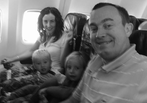 Airline Family Selfie