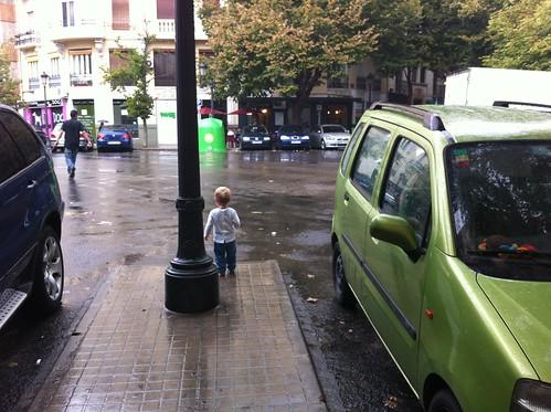 Ian in the rain