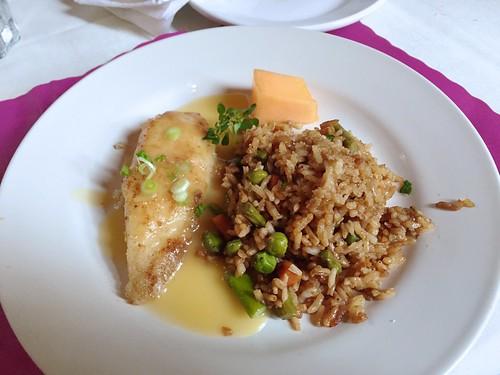 King Street Café - Tilapia with Apricot Sauce