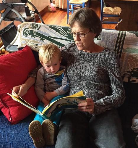 Betsy reading to Ian