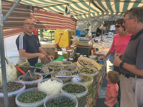 Paul, Betsy, and Ian negotiating for Olives