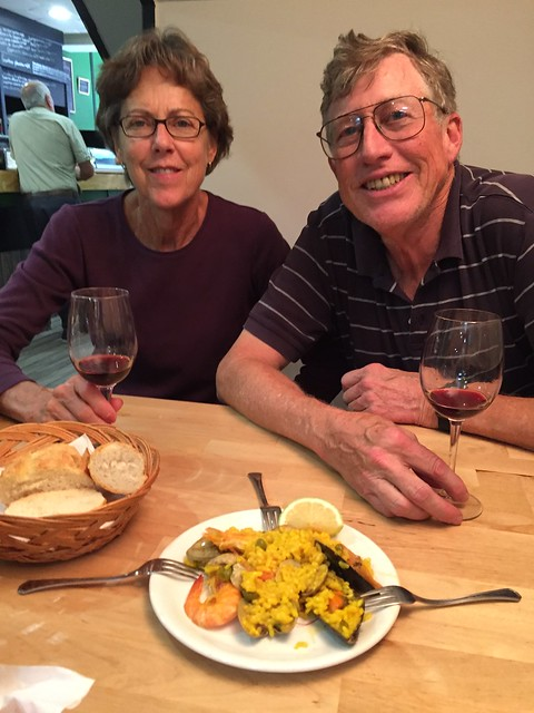 Paul and Betsy with Paella