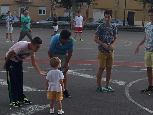 Ian making friends with older boys