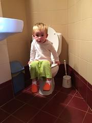 Ian on the potty