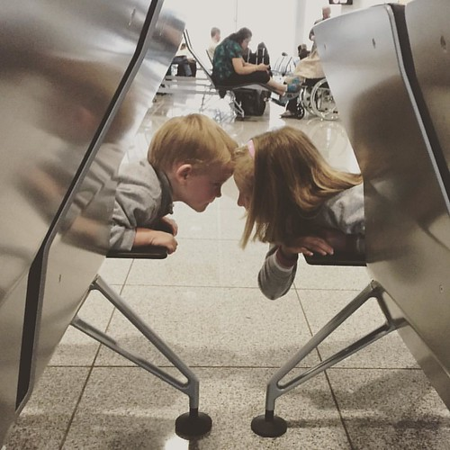 Maybe if we put our heads together we can figure out how to have fun in an airport!